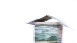 House made of Dollars Stock Video Footage
