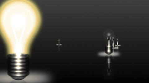 Multiple light Bulbs in Motion Footage