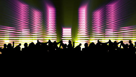 People at a concert dancing Stock Video Footage