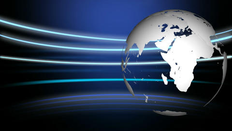 3d Globe Rotating Footage