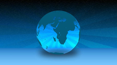 Blue Globe in Motion Footage