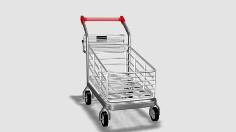 Trolley rotating. Consumerism concept Stock Video Footage
