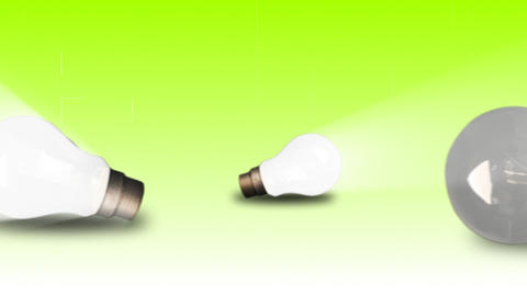 Lightbulbs switched on and off Stock Video Footage