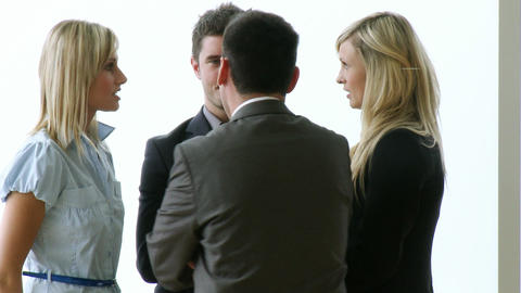 Business people speaking in office footage Footage