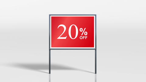signage stand discount up 4k Animation