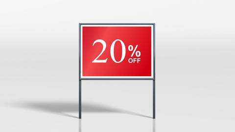 signage stand discount up HD Animation