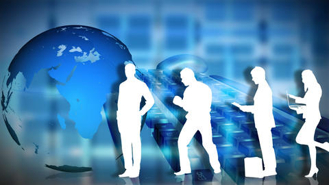 Animation of Business people silhouettes Animation