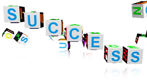 Animation of word game spelling SUCCESS Animation
