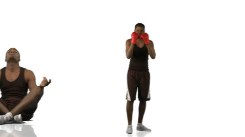 Animation of an ethnic boy doing different sports  Animation