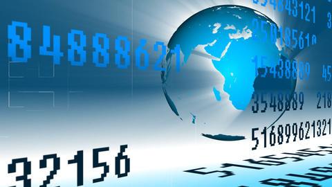 Animation Of Worldwide Stock Market stock footage