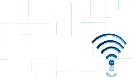 Animation of WIFI signal. Concept of network Stock Video Footage