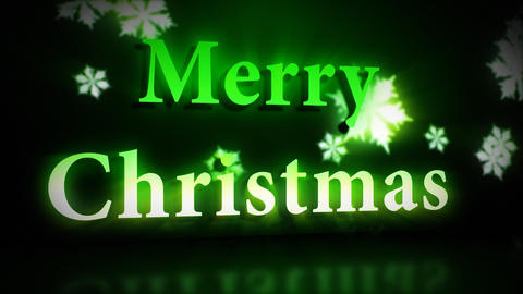 Merry Christmas animation in green colours Animation