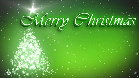 Merry Christmas animation with decorated tree and  Animation