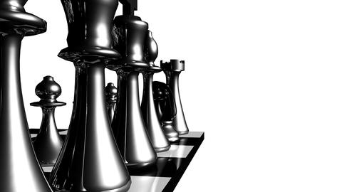 Animation of chess set in motion Animation