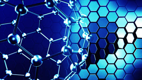 Molecules in motion. Science and life concepts Stock Video Footage