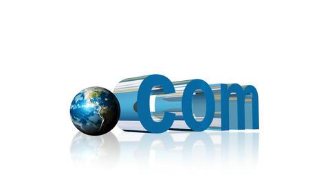 Dot com website address in 3D Animation