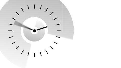Clock moving the hands very fast. Passing time con Stock Video Footage