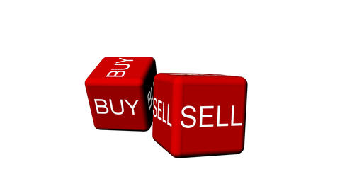 Cubes spelling Buy and Sell Animation