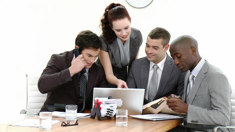 Young Business people in a meeting Stock Video Footage