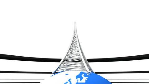 Worldwide Antenna stock footage