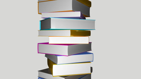 Tower of colorful books Animation
