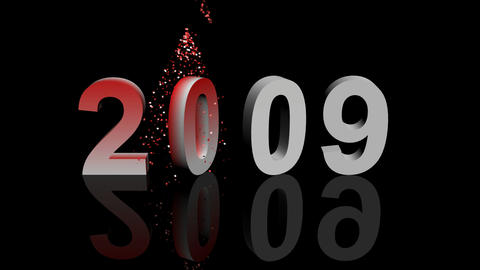 Happy 2010 3d animation Stock Video Footage