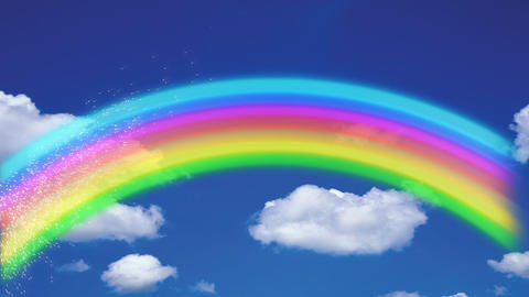 Rainbow in high Definition Stock Video Footage