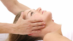 Woman receiving a massage Footage