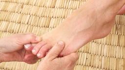 Womans feet being massaged Footage