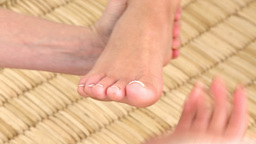 Foot massage in HD Footage