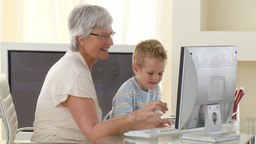 Grandmother minding her Grandchild Stock Video Footage