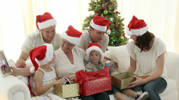 Intergenerational Family at Christmas Stock Video Footage