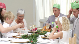 Family enjoying christmas day together Stock Video Footage