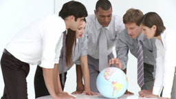 Global sales team in a meeting Stock Video Footage