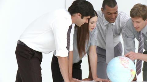 Global Sales team having a meeting Footage