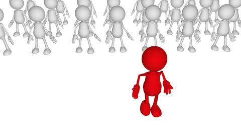 Team Leadership conceptual animation Animation
