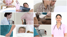 Montage Of Medical Medical Footage stock footage