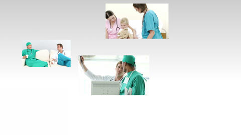 Montage of Medical Scenes 1 Animation