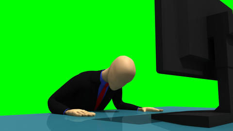 Animation representing a despaired 3dman in front  Animation