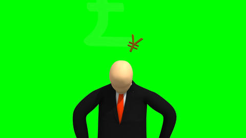 Animation representing 3dman in a suit thinking ab Animation