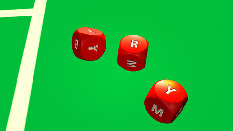 Rolling dices against a casino background Stock Video Footage
