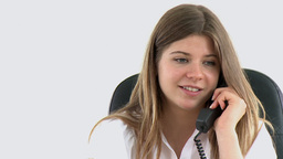 lively young business woman on phone Footage