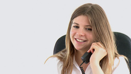young female executive on phone Stock Video Footage
