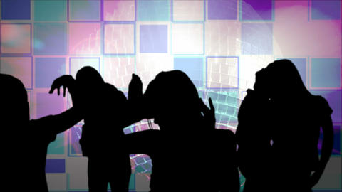 animation showing shadows partying Stock Video Footage