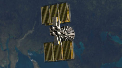 3D animation showing satellite turning around the  Animation