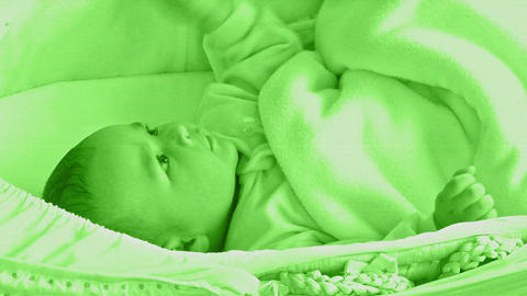 Little Baby In A Green Film stock footage