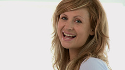 Close up of a smiling pregnant woman Stock Video Footage