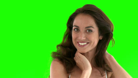 Smiling hispanic woman smiling at the camera Stock Video Footage