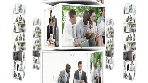 Business team montage Stock Video Footage