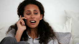 Woman calling on the phone Stock Video Footage
